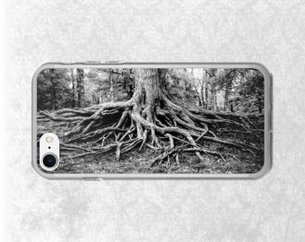Tree Roots iPhone 6 Case, Galaxy S7 Case, Nature iPhone, iPhone 7 Case, Tough iPhone Case, Tree iPhone, Black and White, Zen, Yoga, Balance
