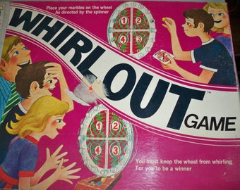 Vintage 1971 Milton Bradley Whirl Out Game