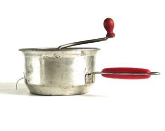 Foley Food Mill Vintage Red Handle Kitchen Utensils Hand Crank Ricer