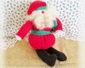 """Vintage Santa Ornament Collectable Creations 7"""" Original and Rare 1985 Portland, OR, Designed By Charlotte Colistro Brown, Judy Hoiland"""