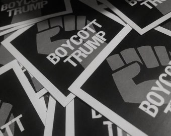 Boycott Trump Stickers