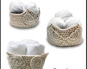Crochet Pattern-- Owl Baskets Pattern Pack --Crochet Pattern