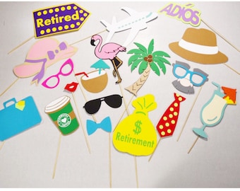 Retirement party props , going awag party props ,retirement photobooth props