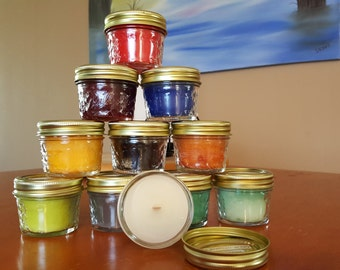Discontinued Candles for St. Chris Handmade 4oz Wood Wick Candles CHOOSE YOUR SCENT(S)