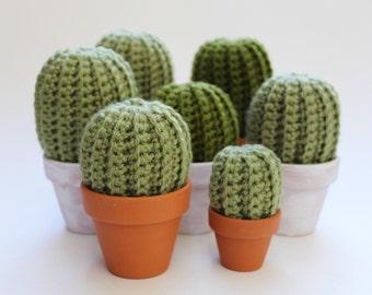 Mini Crochet Cactus Pot - Crochet Cacti - Fake Cactus - Cactus Lover Gift - Home & Office Decor