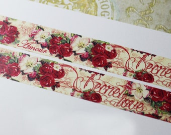 Washi Tape| Decorative Tape Romantic Rose Secret Love Design