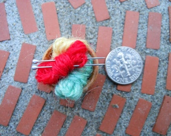 Knitting Basket in 1 inch scale
