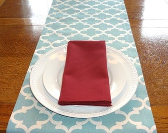 Village Blue Fulton Moroccan Geometric Design Table Runner Dining Room Decor Choose Size