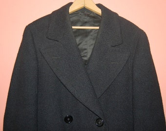 30s Mens Overcoat Vintage Wool Winter Top Coat by JS Bashore Lebanon PA Made In USA Boardwalk Empire