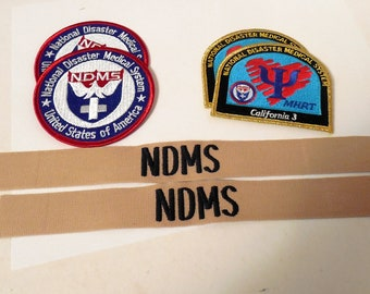 National Disaster Medical System Patches, MHRT, NDMS, MHRT California 3, Medical Patches, Tactical Patches, National Disaster Medical Patchs