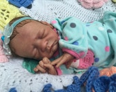 """REBORN Baby Girl """"Ember"""" Micro Rooted Sweet Little Darling Sleeper READY to SHIP"""