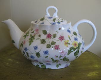 Queen's Country Meadow Floral  Teapot England