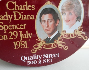 Tin Royal Wedding Lady Diana Prince Charles