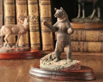 Black bear figurine, Majestic Wildlife, Hamilton collection