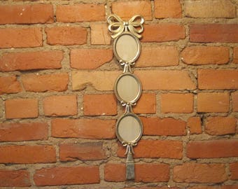 Vintage Brass Bow and Tassel Picture Frame