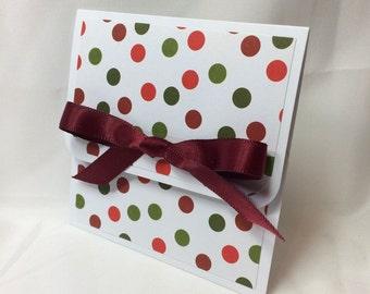 Christmas Polka Dots Holiday Gift Card Holder