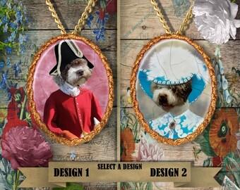 Spanish Water Dog  - Perro de Agua Espanol Jewelry. Spanish Water Dog Pendant or Brooch. Spanish Water Dog Necklace.Custom Dog Jewelry.