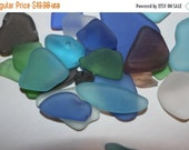 13% OFF 1 lb) Jewelry grade sea glass, free shipping, craft ready bulk sea glass, machine tumbled sea glass, assorted colors bulk sea glass