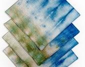 Hand Dyed Napkins - Blue-...