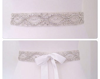 Crystal Bridal sash wedding dress belt wedding belt,ANA