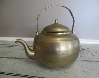 Brass Tea Pot Brass Tea Kettle Brass Coffee Kettle Small Kettle Small Pot Made in Korea
