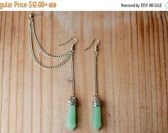 SALE Jade Geolith Pendulum Cartilage Earrings (Pair)