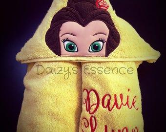 Princess Belle Hooded Towel