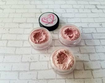Pink Eyeshadow trio, pink makeup, bridal make up,wedding make up,  handmade make up, Rose eyeshadow trio