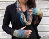 Aspen Ombre Scarf & Handwarmer SET   -   Made To Order