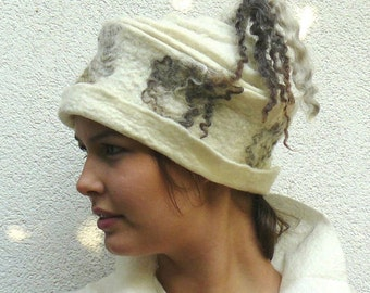 Felted Hat white