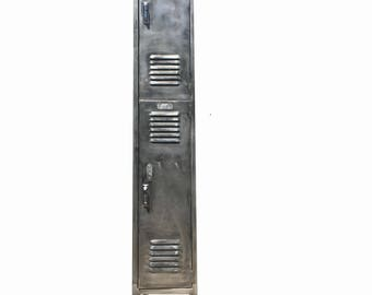 vintage industrial locker brushed metal locker with with two cabinets