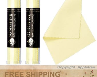 2 Tubes Sunshine Polishing Cloths for Sterling Silver, Gold, Brass and Copper Jewelry