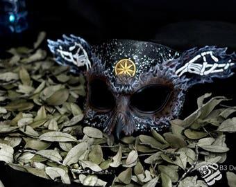 Greek God Hades Owl - Handmade Leather Mask