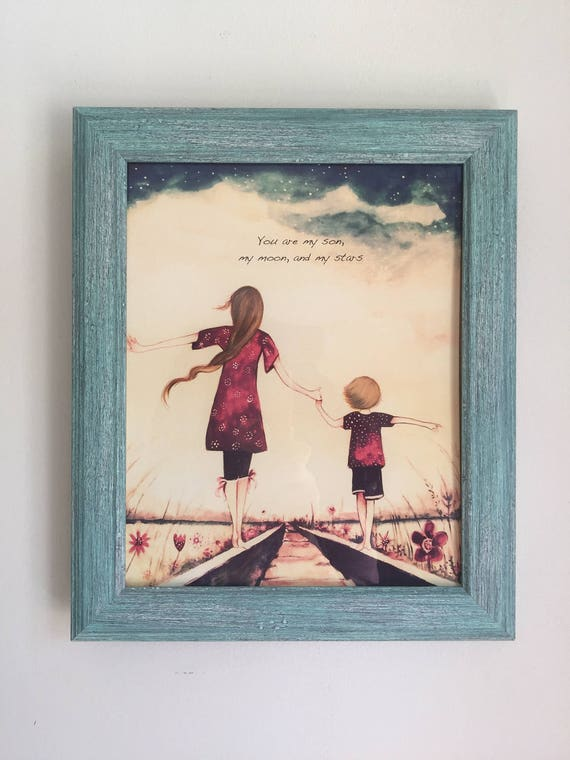 framed portrait art print