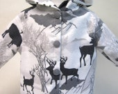 Deer Winter,  Flannel Jacket for Your 18 Inch Doll B