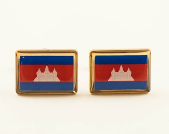 Cambodian Flag Cufflinks