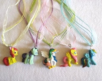 10 My Little Pony Party Favors. Necklaces or Cupcake toppers
