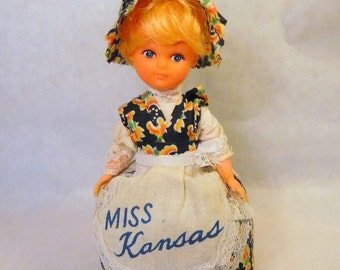 MISS KANSAS Doll - Handmade Hand Crafted - Vintage Toy