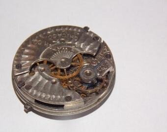Antique 29mm Etched Pocket Watch Movement