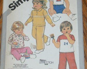 Vintage Uncut  Retired Simplicity Pattern 5398 childs size Toddler 1 2 3