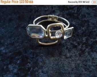 Now On Sale Vintage Rhinestone Chunky Clamper Bracelet 60s 70s Mad Men Mod Old Hollywood Glam Retro Rockabilly Vintage Jewelry