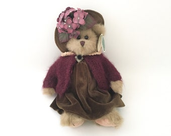 Jointed Teddy Bear Stuffed Animal - Victorian Teddy Bear Plush Toy - Teddy Bear Plushie - Stuffed Teddy Bear Vintage Jointed Teddy Bear
