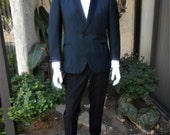 RESERVED FOR TRACY - Vintage 1960's Lord West Blue Tuxedo - Size 42 short