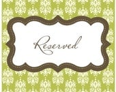 Reserved for Nanette