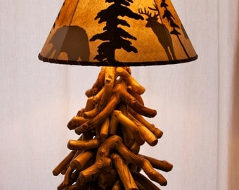 Tree lamp sculpture - Rustic home decor - Modern rustic decor - Rustic lamp - Table lamp