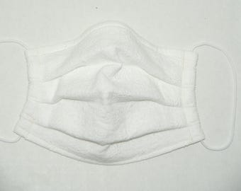 "NEW Premade Pleated Double Gauze Facial Mask for Teens and Adults ""Lace - Flowers"" & Tio Tio Antibacterial Gauze"" Size L"