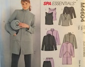 McCall's M4604, Size X Small, Small, Medium, Misses' Unlined Jacket, Tops, Pants, Bag and Blanket Pattern, UNCUT, Spa Essentials, 2004