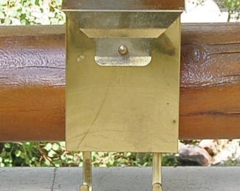 Brass Letter Post Box  Mid Century