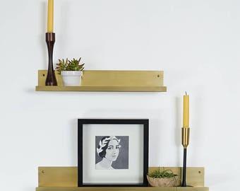 Driskill Brass Picture Shelf Ledge