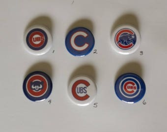"""Chicago Cubs Pin Back Buttons 1.25"""""""
